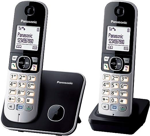 Panasonic KX-TG6812 - Teléfono fijo digital (inalámbrico, DECT), negro y blanco [Importado de Italia] [versión importada]: Amazon.es: Electrónica