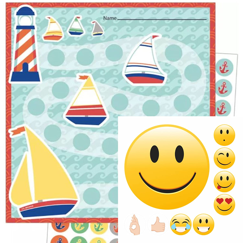 By Diana Motiv Segelschiffe + Smileys Gut Gemacht
