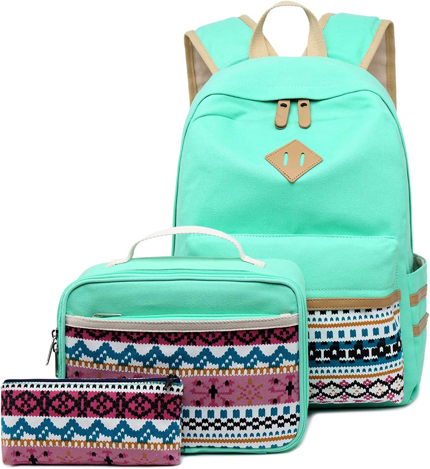 School Backpack Set Students Casual Travel School Bookbag Teens Girls Boys Schoolbag