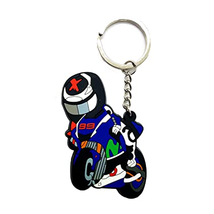 Amazon.com: Rubber Motorcycle Key Holder Chain Fob Ring For ...