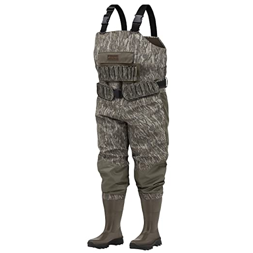 0a6e9a49682a0 Frogg Toggs Grand Passage Breathable Bootfoot Chest Wader, Cleated Outsole,  Mossy Oak Bottomland,
