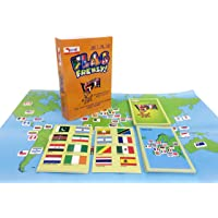 CocoMoco Kids Flag Frenzy Educational Geography Card Game Toy for Boy and Girls (6-14 Years)