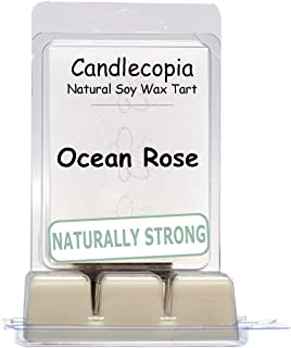 product image for Candlecopia Ocean Rose Strongly Scented Hand Poured Vegan Wax Melts, 12 Scented Wax Cubes, 6.4 Ounces in 2 x 6-Packs