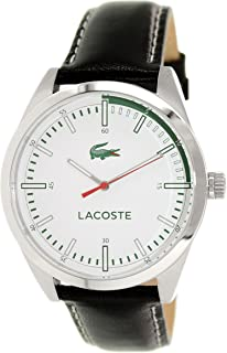 Lacoste Mens Montreal 2010732 Black Leather Analog Quartz Watch