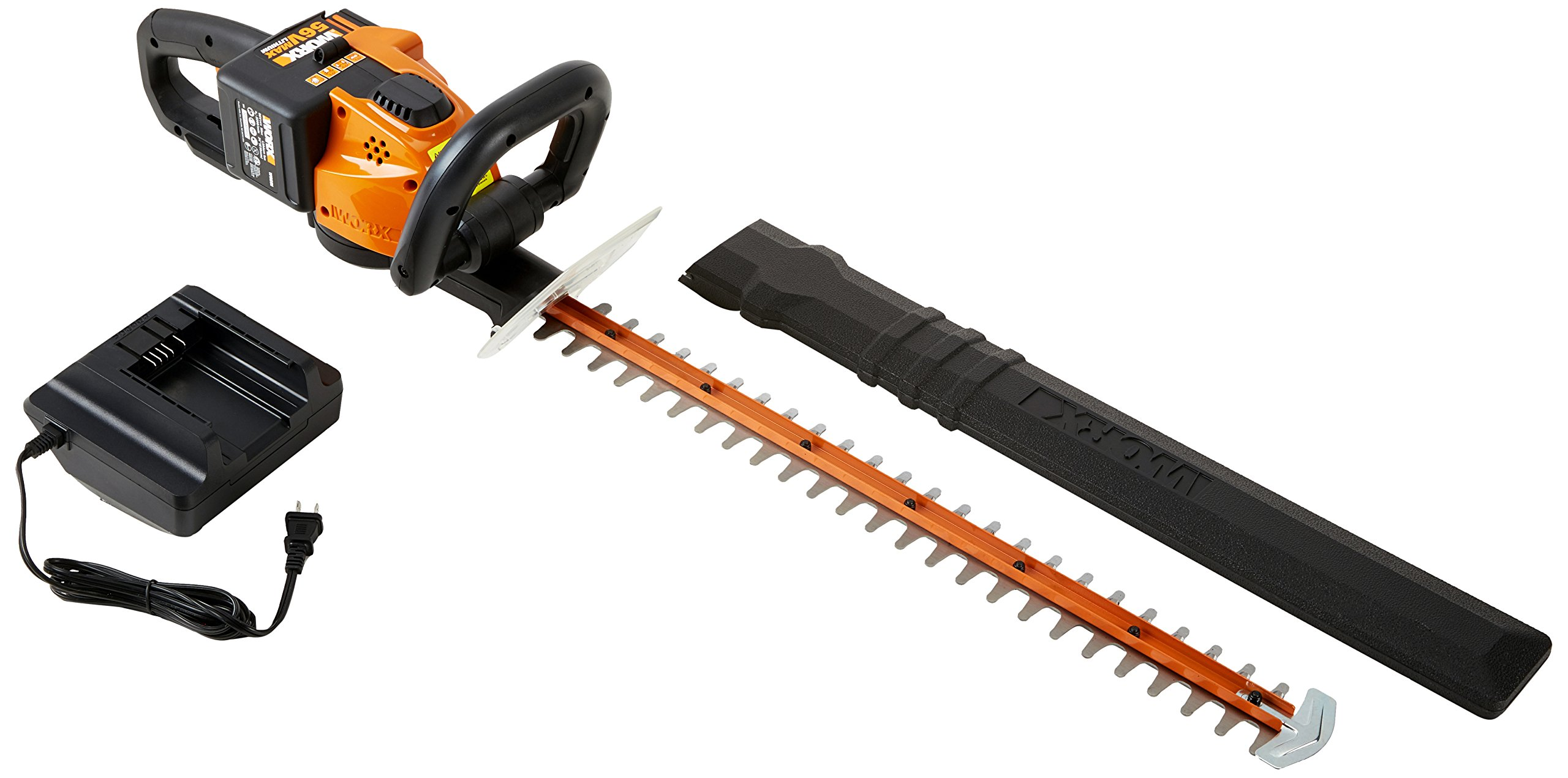 WORX WG291 56V Lithium-Ion Cordless Hedge Trimmer, 24-Inch, Battery and Charger Included by Worx