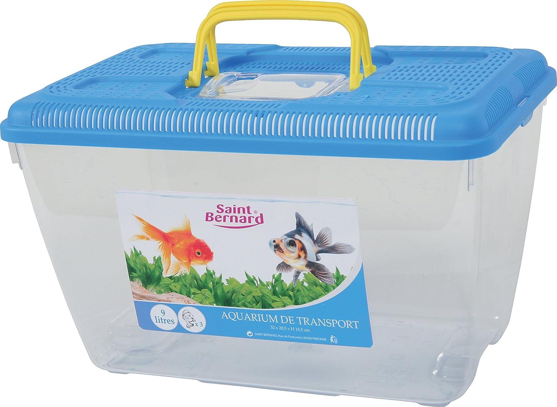 SAINT BERNARD Aquarium de Transport en Plastique pour Aquariophilie Taille M,coloris Aléatoire
