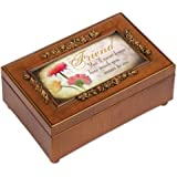 Cottage Garden Friend Woodgrain Petite Rose Music Box / Jewelry Box Plays That�S What Friends Are For