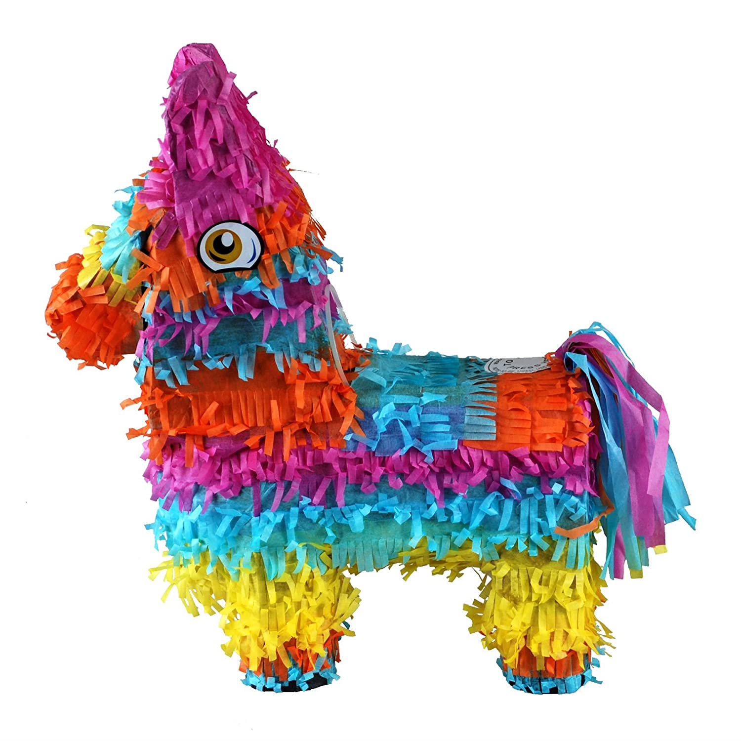 Fiestas and Celebrations 32cm x 41cm Ideal for Childrens Birthday Parties CrazyGadget/® Rainbow Pinata Donkey Mexican El Burro Small Party Accessories Sweets Favours Decoration Cinco De Mayo
