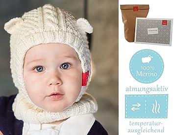 Baby Mütze Stricken Set Diy Set Schlupfmütze Eisbärchen Süßes