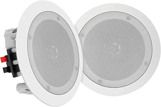"""Pyle Pair 6.5"""" Bluetooth Flush Mount In wall In ceiling 2 Way Universal Home Speaker System Spring Loaded Quick Connections Polypropylene Cone Polymer"""
