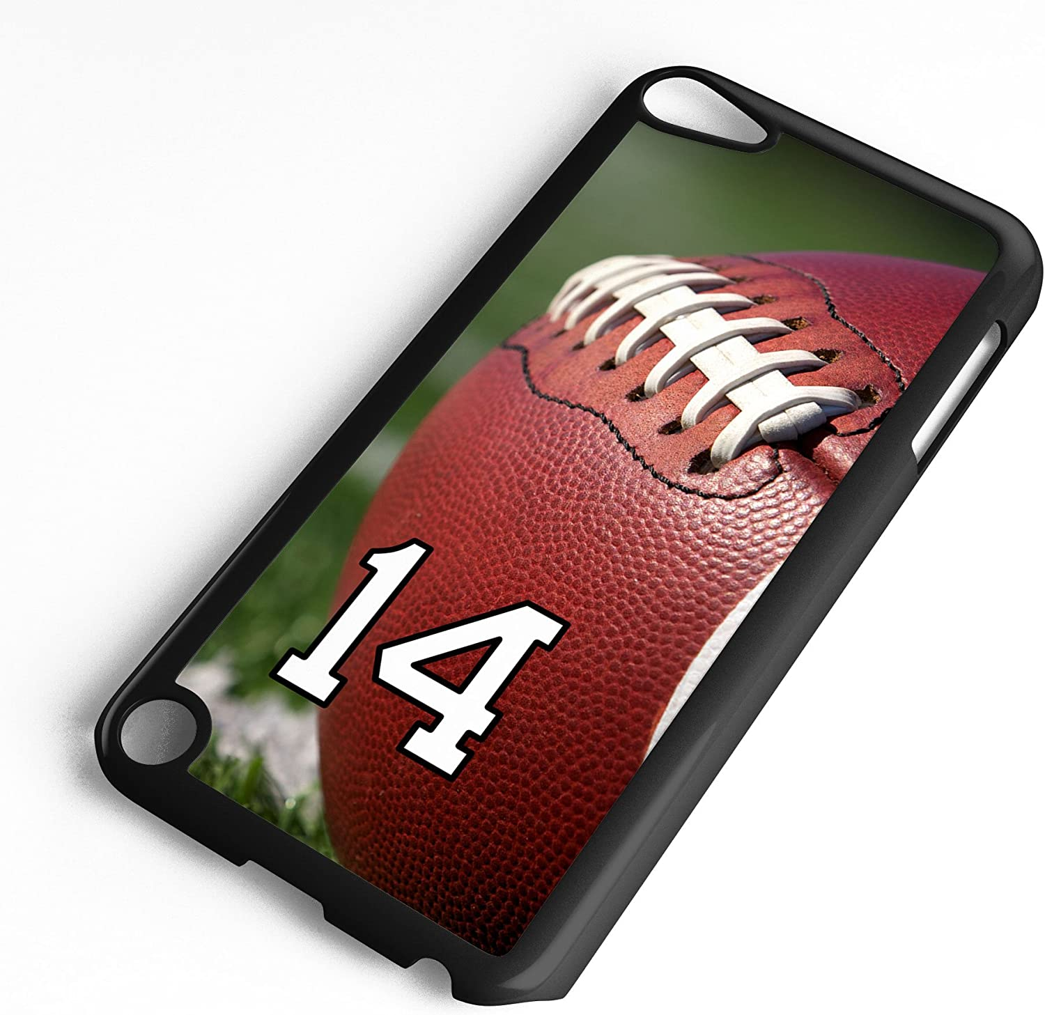 iPod Touch Case Fits 6th Generation or 5th Generation Football #6100 Choose Any Player Jersey Number 19 in Black Plastic Customizable by TYD Designs
