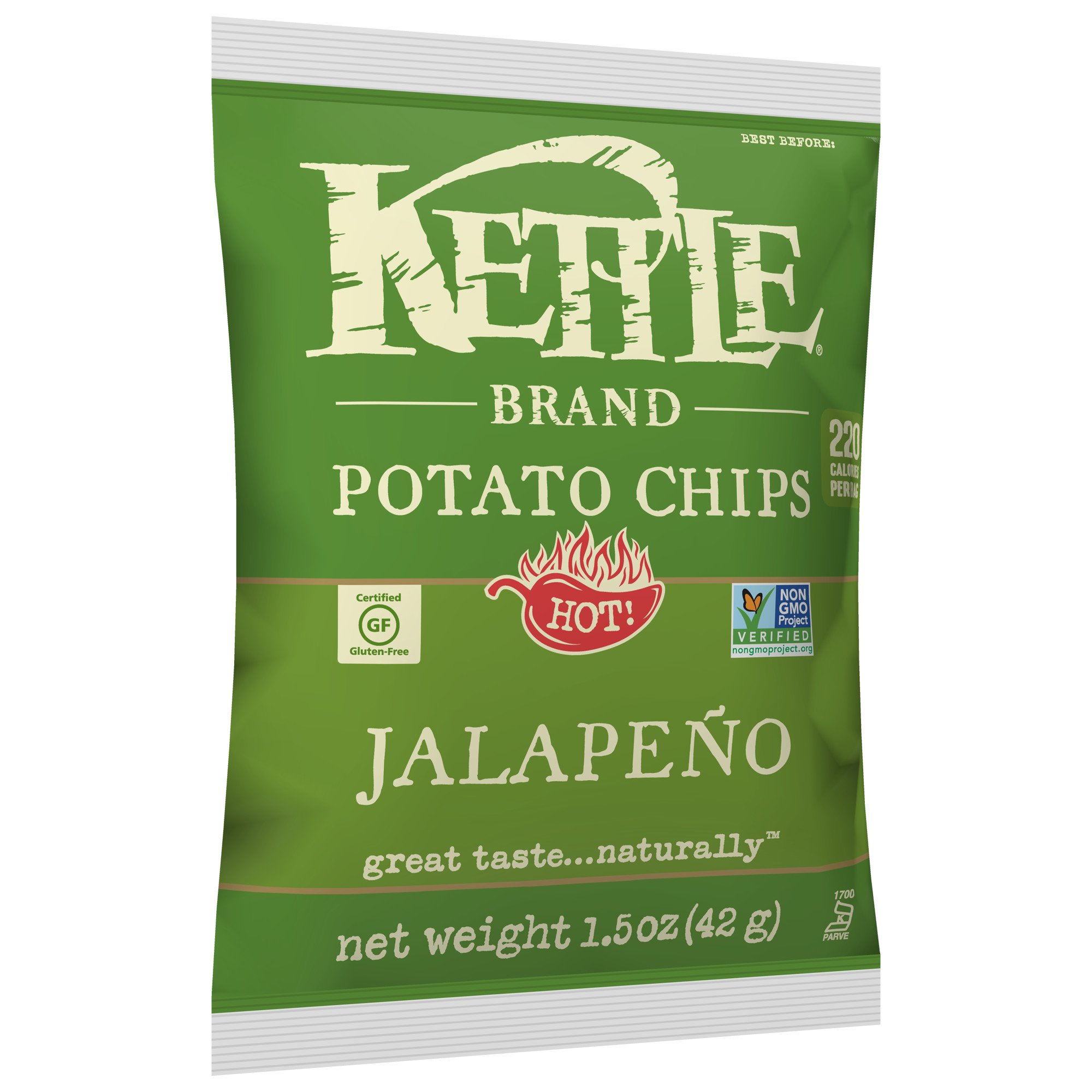 Kettle Brand Potato Chips, Jalapeno, 1.5 oz by KETTLE FOODS (Image #8)