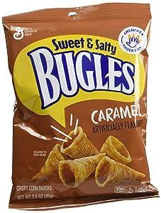 Bugles Corn Snacks, Caramel, 3.5 Oz (Pack of 7)