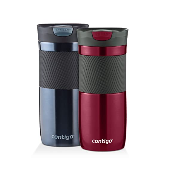 Contigo Byron SnapSeal Vacuum-Insulated Travel Mug, 16 oz, Spiced Wine and Stormy Weather