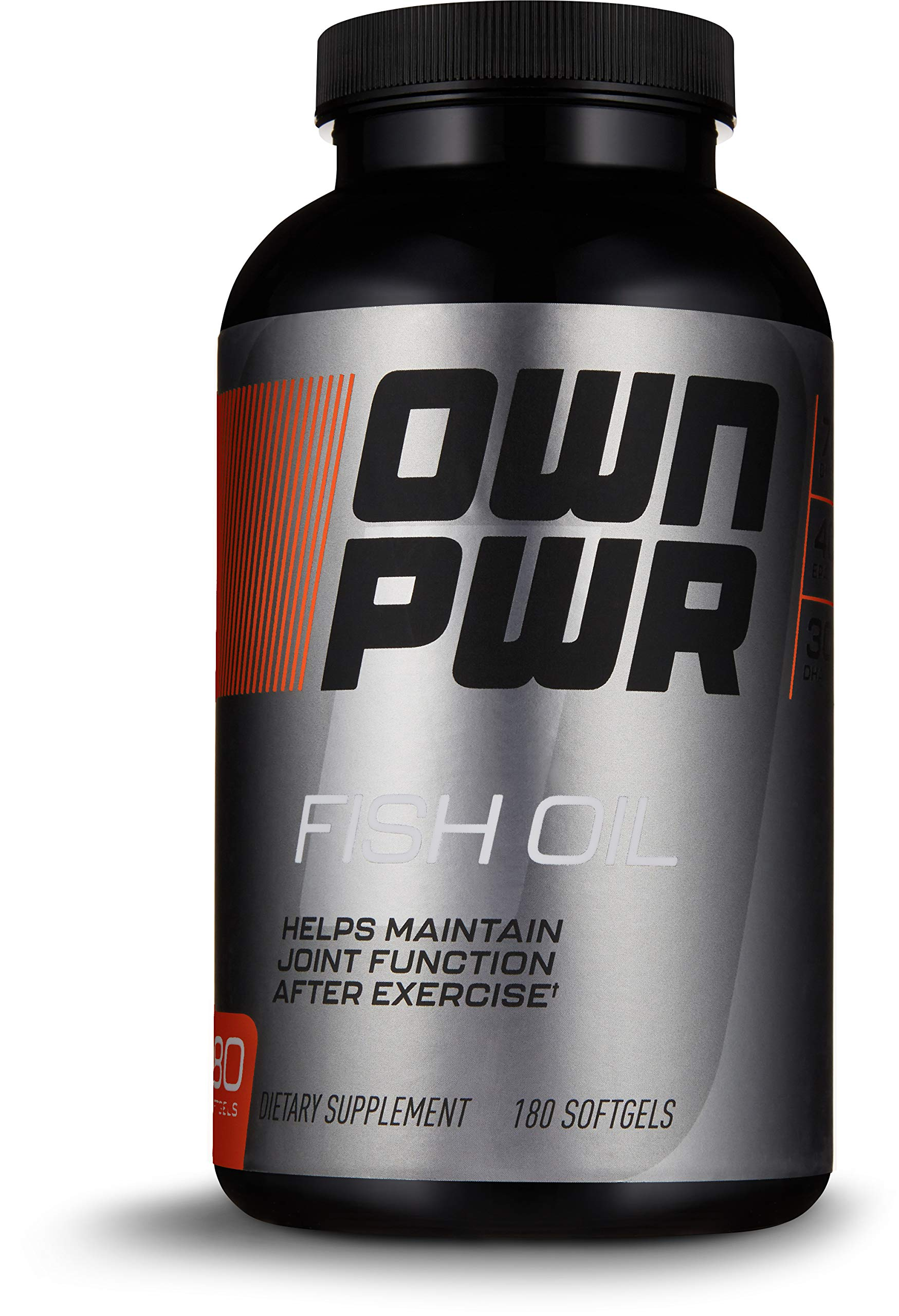 OWN PWR Fish Oil Supplement, 180 Softgels, Fish Oil: 1250MG, Omega-