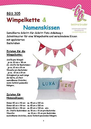 BBS 305 Schnittmuster für Wimpelkette mit Namen und Kissen ...