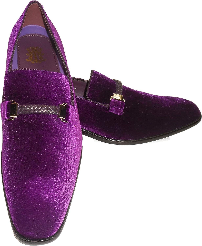 AM 6753 Mens Purple Velvet Dressy Slip