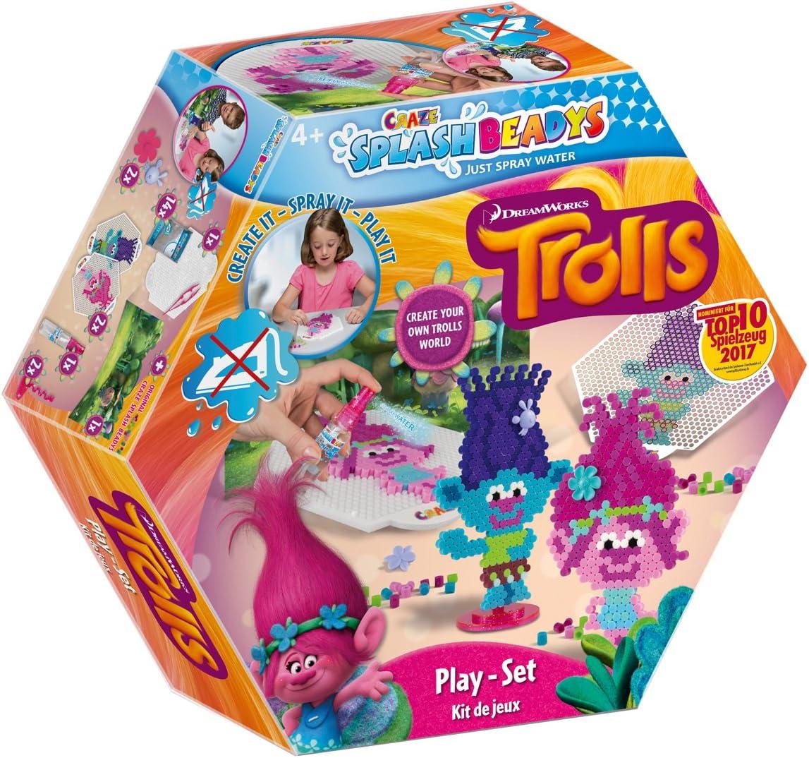 CRAZE Fuse Beads Splash BEADYS Trolls Set de Juego de Juguete con Cuentas de fusibles de Agua para niños 56838, Multicolor: Amazon.es: Juguetes y juegos