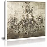 Chandelier Canvas Wall Art Vintage Painting Print on Canvas Modern Artwork Wall Decor The Picture for Home Living Dining Room