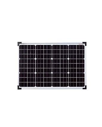 enjoysolar® Monokristallines 24 V panel solar ideal para jardín caravana, 50W: Amazon.es: Industria, empresas y ciencia