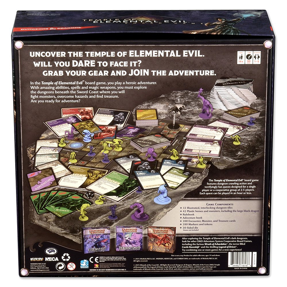 amazon com dungeons dragons temple of elemental evil game toys