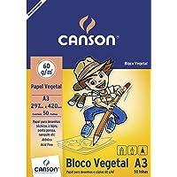 Bloco Papel Vegetal A3 50 Fls 29,7x42cm 60g 66667080 Canson