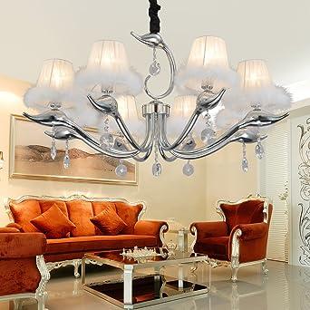 BJ OOFAY LIGHT? Schlicht Und Elegant Einfachen Europäischen Kristall Lampen  8 Schlafzimmer Modernes Wohnzimmer Kronleuchter