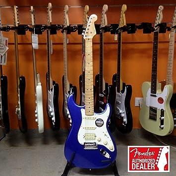 American Standard Guitarra Eléctrica Stratocaster HSS Maple Fingerboard, Ocean Blue-60th anniversary 1951-2011 Metallic: Amazon.es: Instrumentos musicales