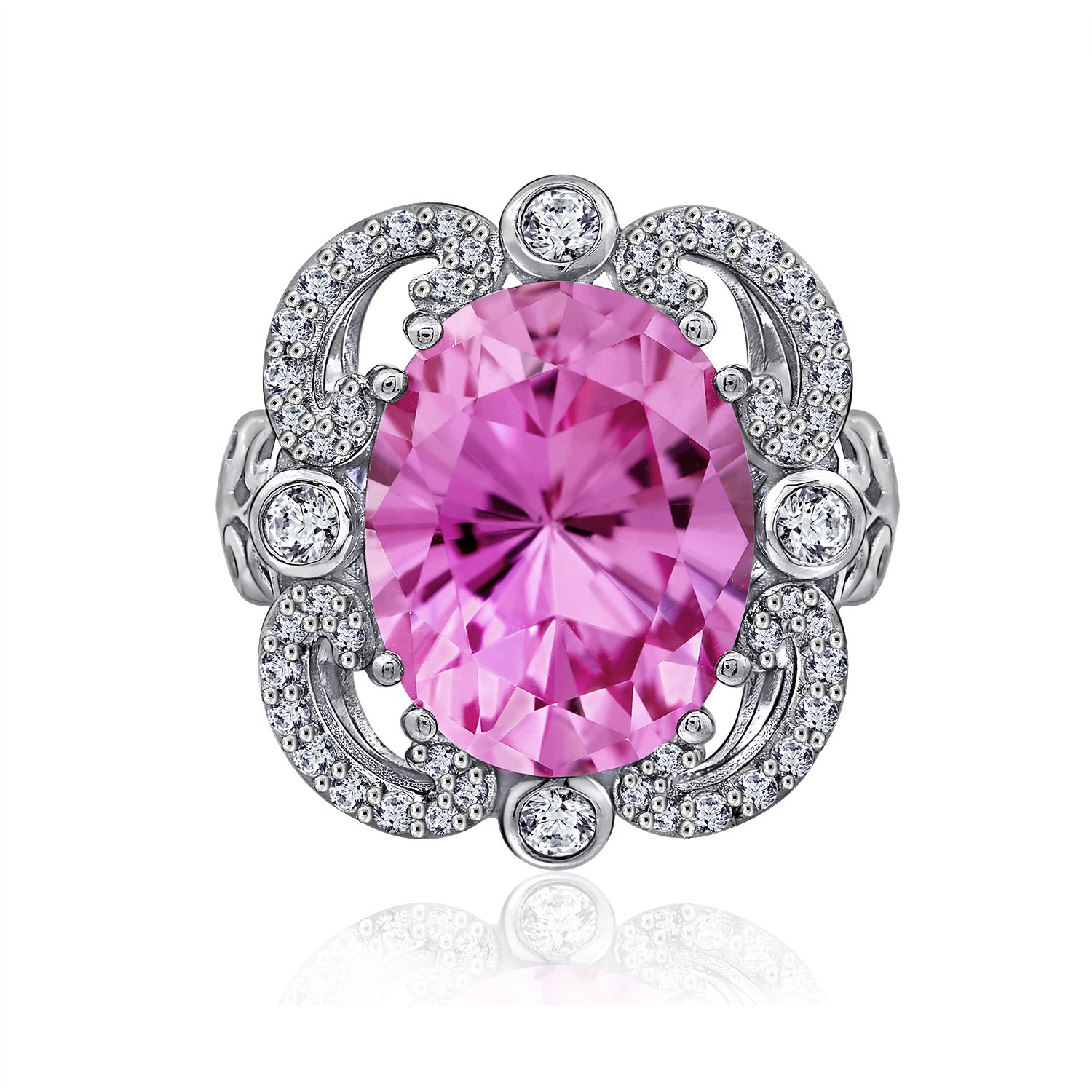 Amazon.com: EC by Erica Courtney Simulated Pink Sapphire Statement ...
