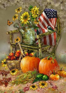 """Toland Home Garden 1112211 Autumn Chair 12.5 x 18 Inch Decorative, Garden Flag (12.5"""" x 18"""")"""