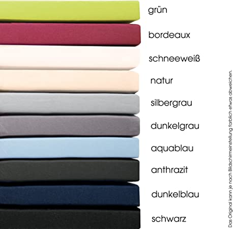 aqua-textil Pur Sábanas Ajustables de Revestimiento Cama Boxspring algodón 180x200-200x200 cm Antracita: Amazon.es: Hogar