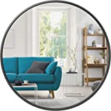 Best Choice Products 36in Framed Round Wall Mirror for Bathroom Vanity, Bedroom, Bathroom, Living Room, Home Décor w/High Cla