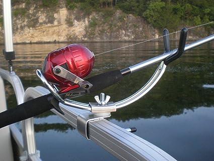 Amazon Com Extreme Marine Products Arnall S Adjustable Pontoon Rod Holder Sports Outdoors