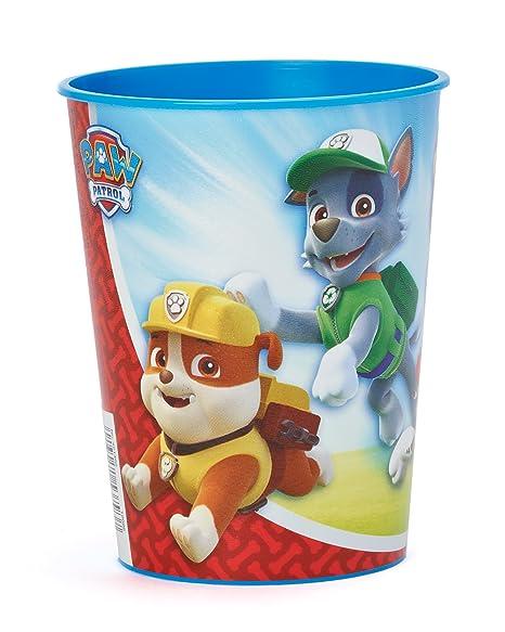 Amscan 421462 Patrulla Canina - Vaso de plástico, 473 ml, color azul