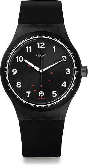 Swatch Reloj Digital para Hombre de Automático con Correa en Silicona SUTF400