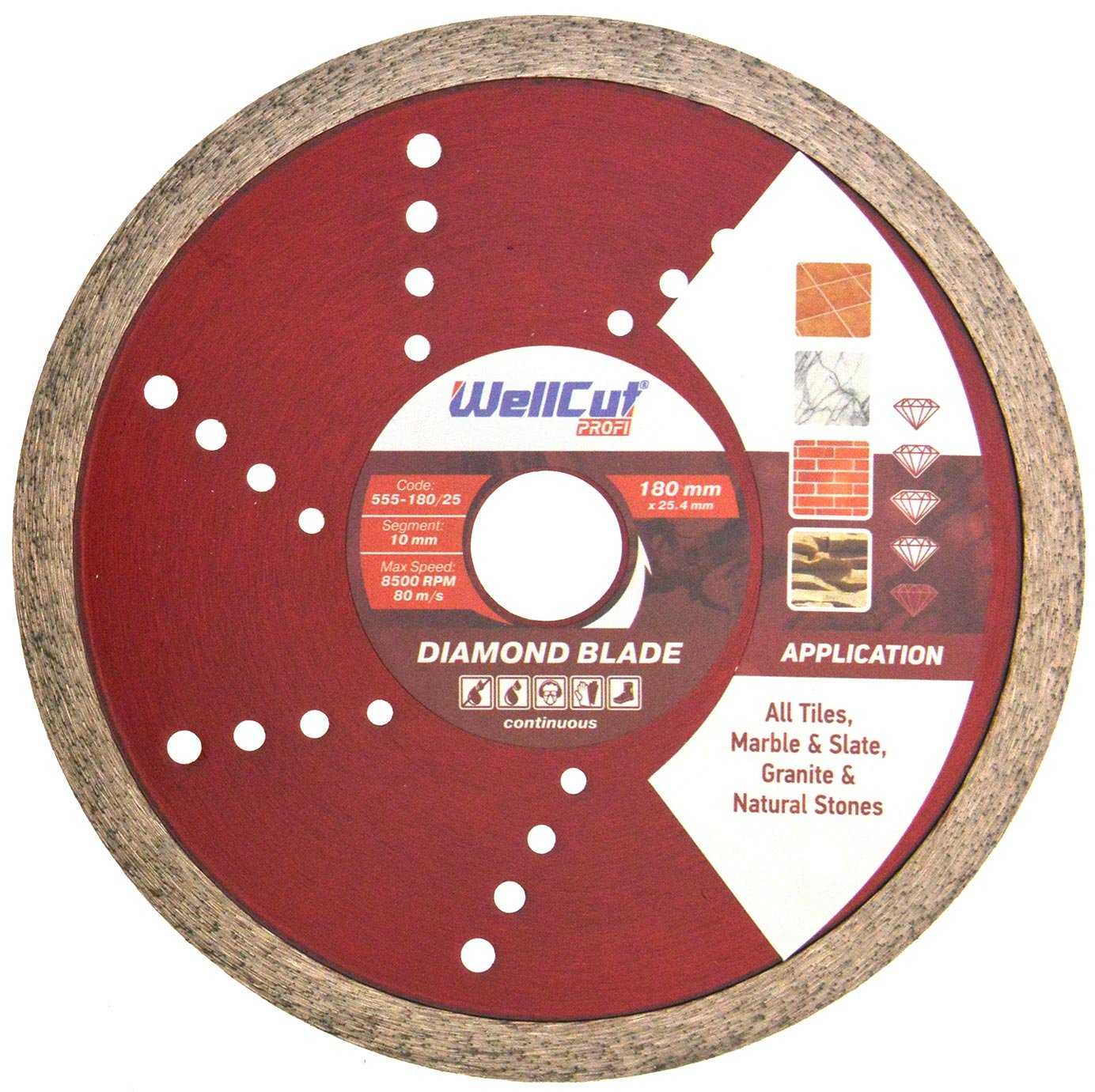 Silverline Tile Cutting Diamond Disc 180 x 22.2mm DIY Power Tool Accessories