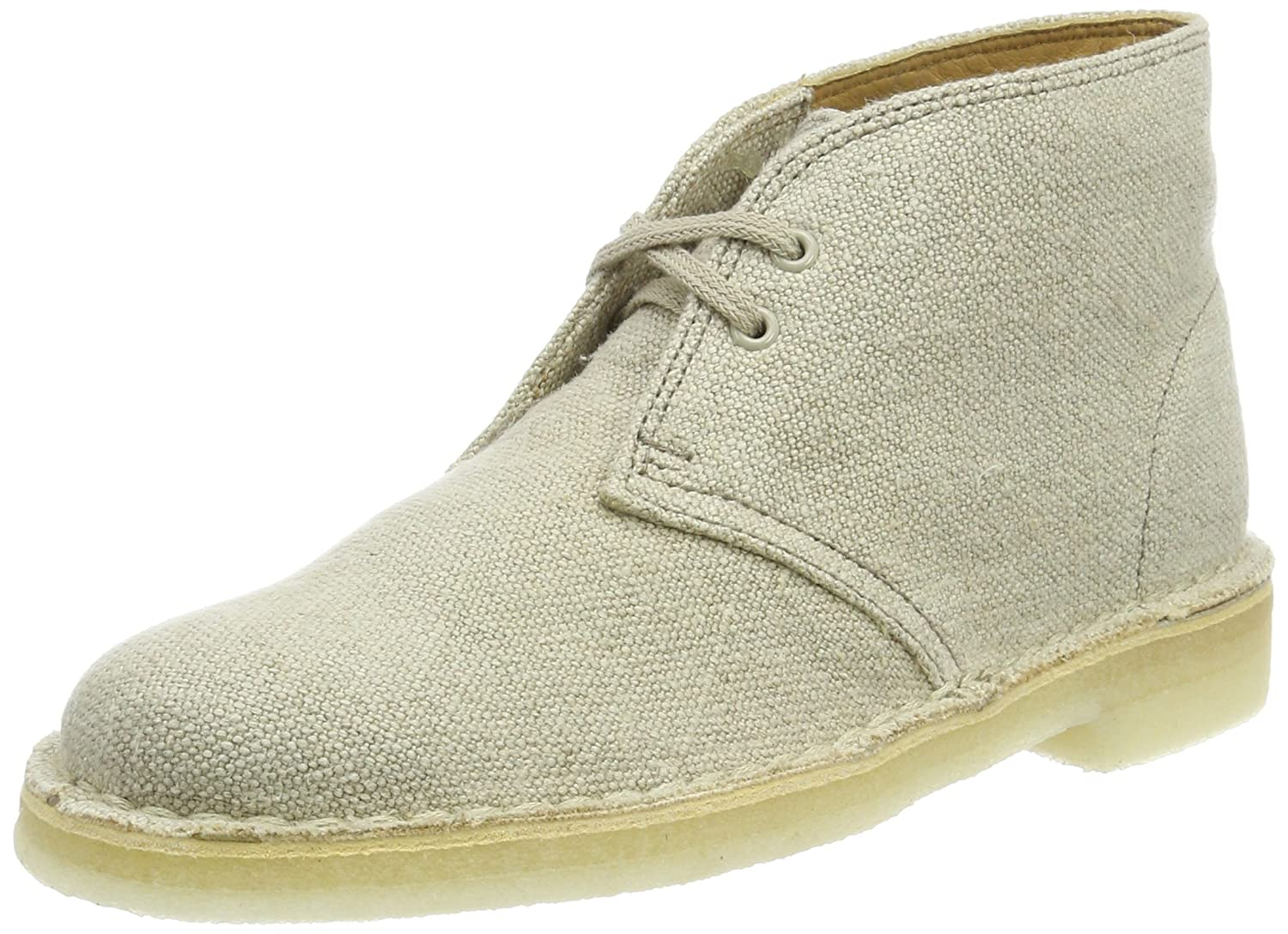 Clarks Damen Desert Stiefel Beige Canvas) (Natural Canvas) Beige 6804b5