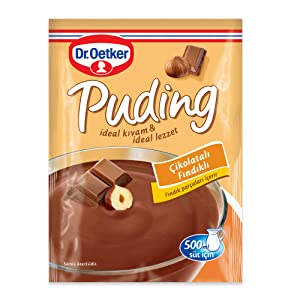 Dr. Oetker Chocolate-Nut Pudding 115g (Cikolatali Findik Aromali)