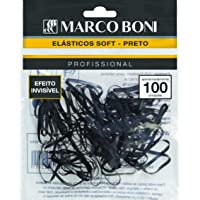 Elástico Soft Preto, 8262, Marco Boni, Preto, 100 Unidades