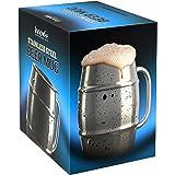 Chope à bière Innovee – Chope de première qualité en acier inoxydable / Tasse café avec opercule extra – 500ml avec double paroi hermétique - Pas de fuite – Peut être congelé – Utilisable pour la bière, les boissons chaudes et plus encore