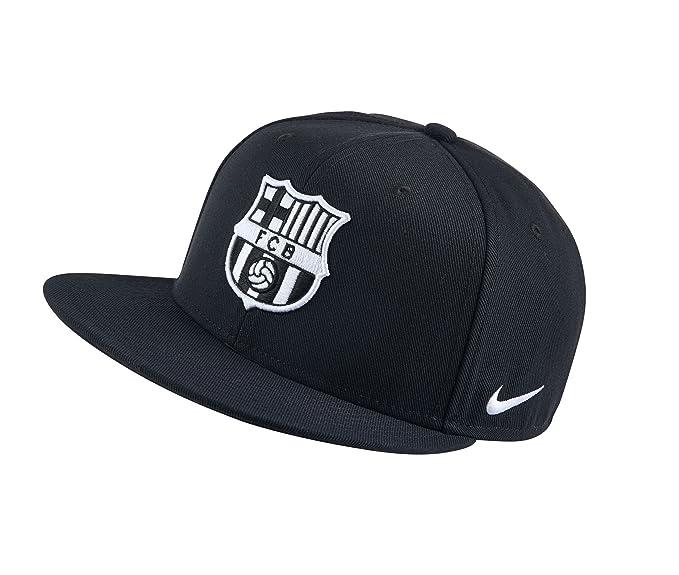 Nike FC Barcelona Seasonal True Gorra, Hombre, Negro (Black/Black ...