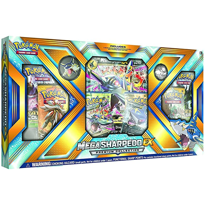 Pokèmon TCG: Mega Sharpedo Mega Premium Colección EX Box ...