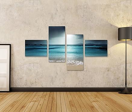 Quadro moderno turchese spiaggia del mare Stampa su tela - Quadro ...