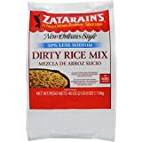 Zatarain's Reduced Sodium Dirty Rice Mix, 40 Ounce (Pack of 6)