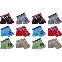 Set de 12 calzoncillos tipo bóxer, microfibra, para niños y adolescentes, talla 98-158 multicolor 98 cm-104 cm