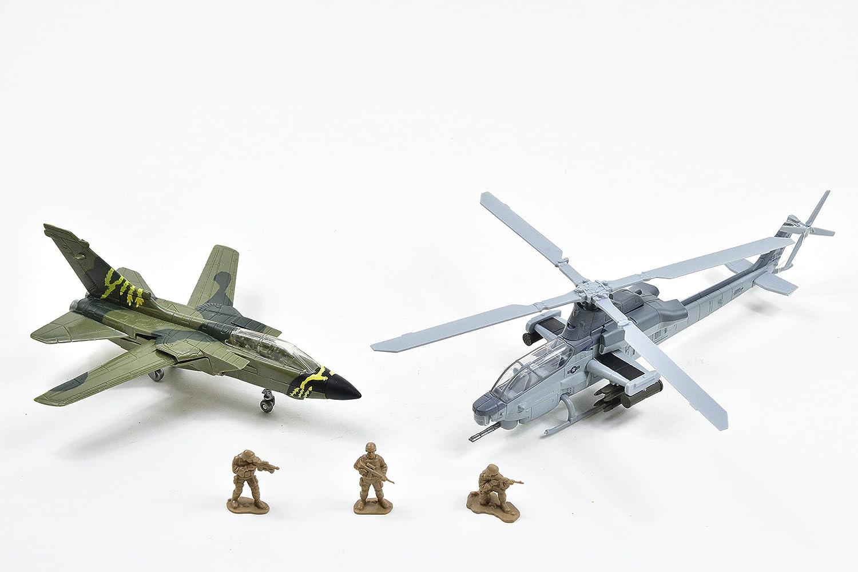 New Ray Militaire Avion Vehicule Accessoire-Coffret 21843 31 cm