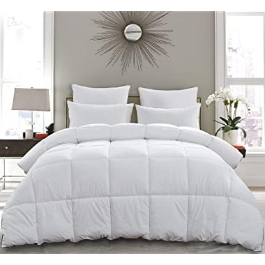Basic Beyond All-Season Goose Down Comforter (King) - Premium Down Duvet Insert with Hypoallergenic Down Proof Cotton Shell