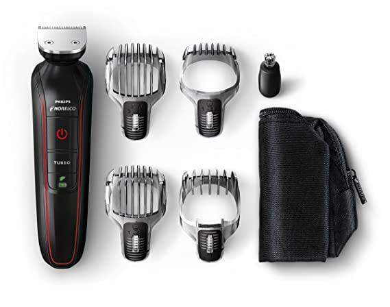 Philips Norelco QG3372/41 Multigroom Beard, Stubble, Hair, Nose and Body Trimmer Beard Trimmers at amazon