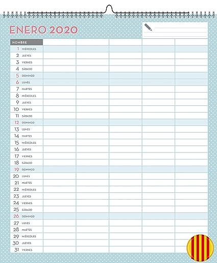 Miquelrius 28053 - Calendario de Pared A3 Familiar Lovely DIY 2020 ...