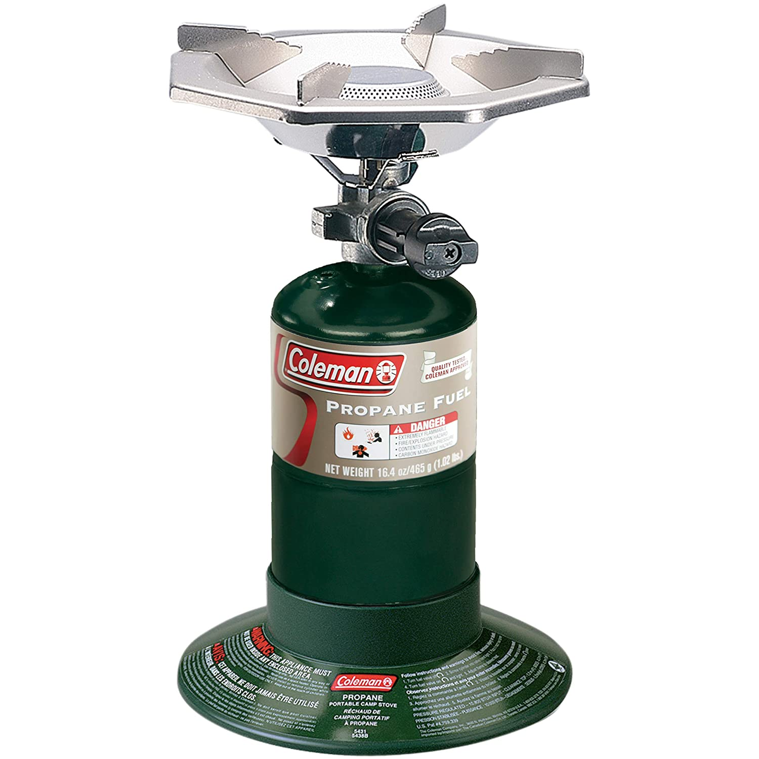 Coleman Bottle Top Propane Stove,Green,6.62in H x 7.81in W x 7.75in L Renewed